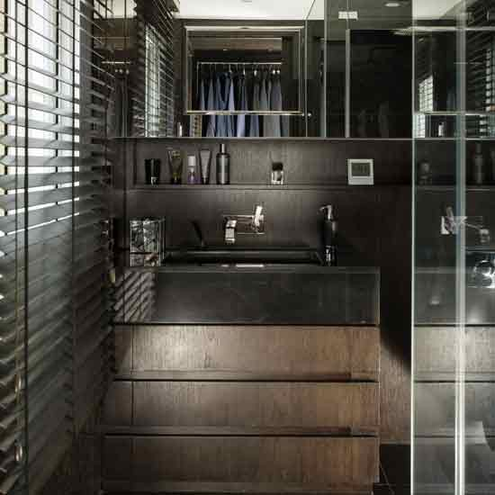 Masculine shower room for Bathroom room design