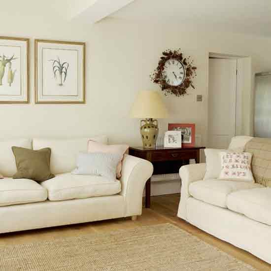 Neutral living room - Living room with cream walls ...