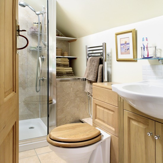 Compact bathroom | Bathroom idea | Towel warmer | Image | Housetohome.co.uk