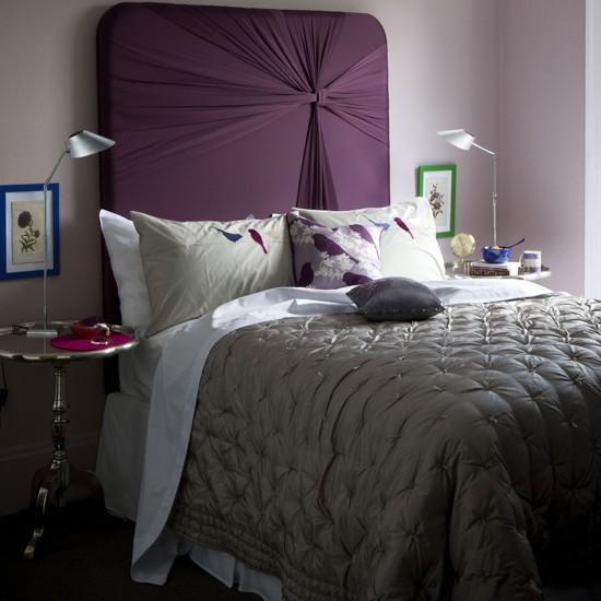 Plum Coloured Bedroom