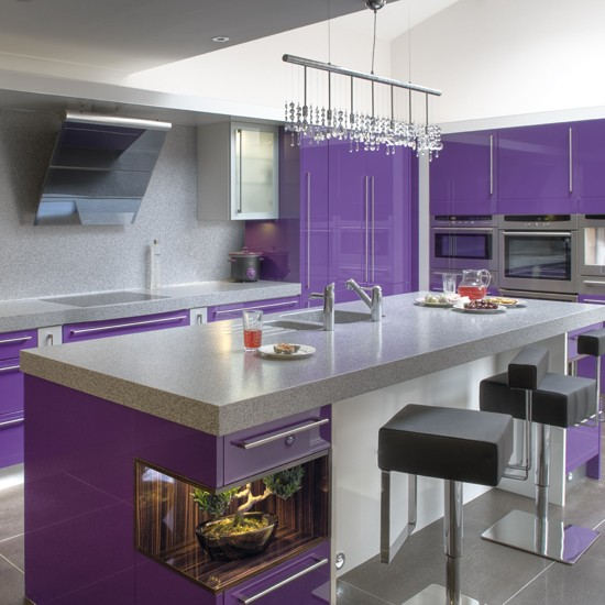 Vivid violet kitchen BK - housetohome
