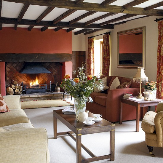 Cosy autumn living room CH&I - housetohome