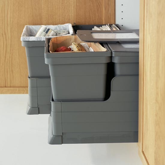There are so many options for kitchen bins, from hidden recycling options to freestanding units