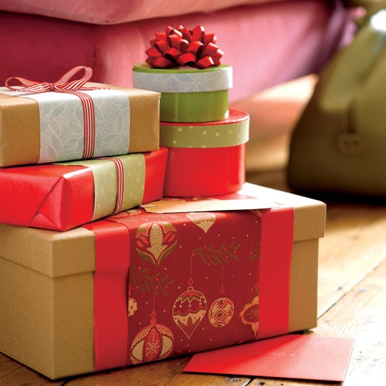 Let beautifully wrapped Christmas gifts take centre stage under the Christmas tree