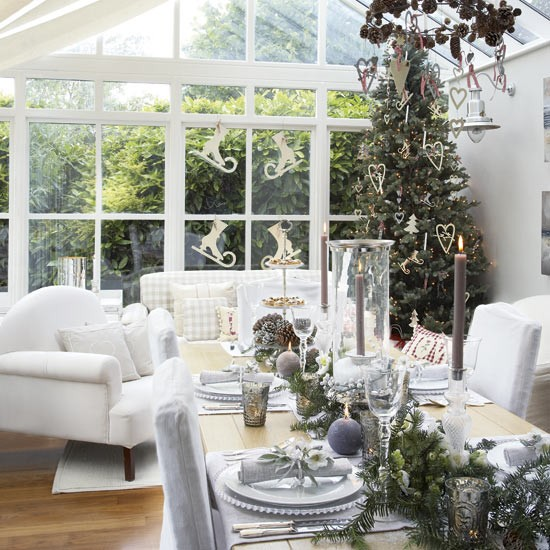 Conservatory Dining Area With New Year Decorations