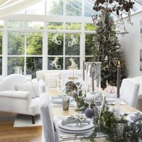 Festive conservatory dining room