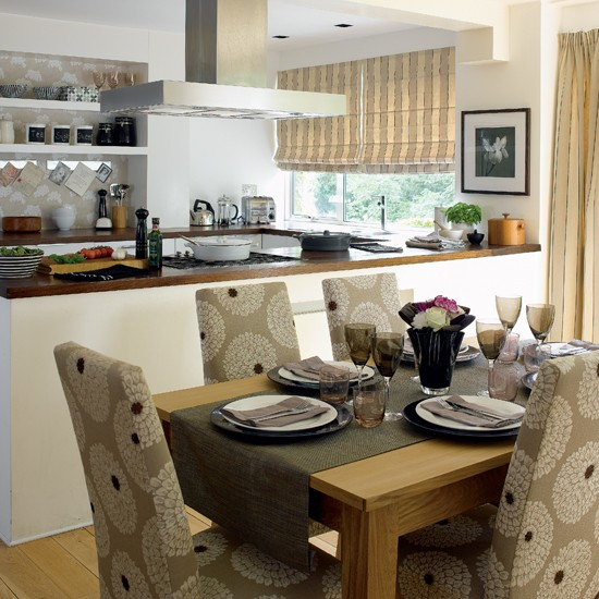 Stylish open plan kitchen dining room for Dining room next to kitchen