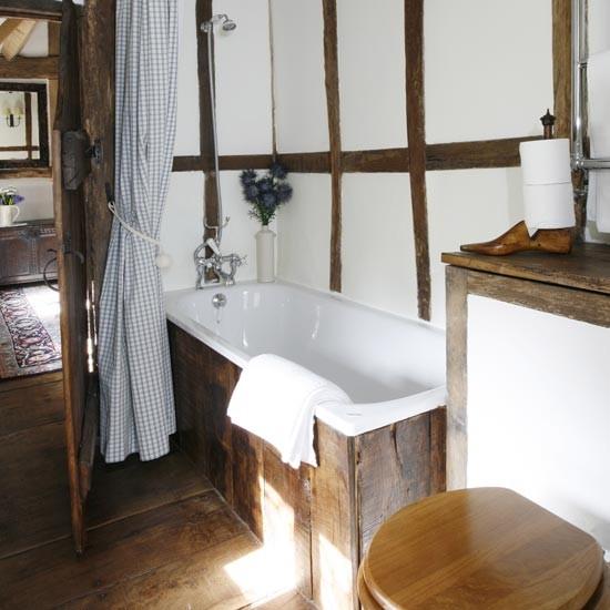 Country-style bathroom | Bathroom idea | Wood panel | Image | Housetohome.co.uk