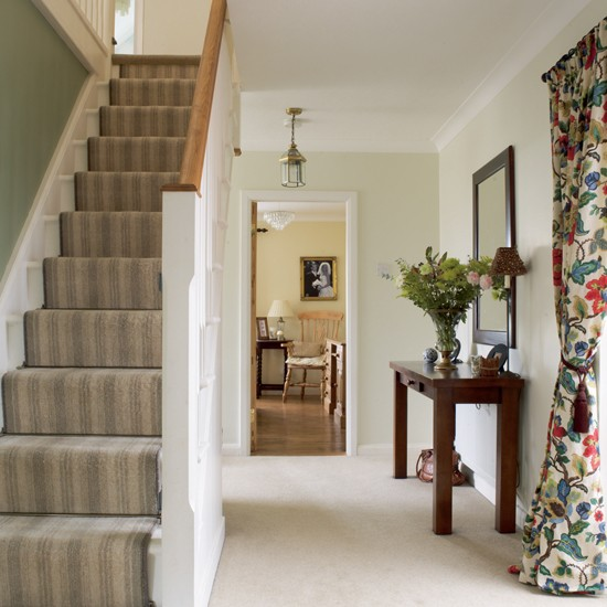 Chic country hallway hallways hallway ideas image Design ideas for hallways and stairs