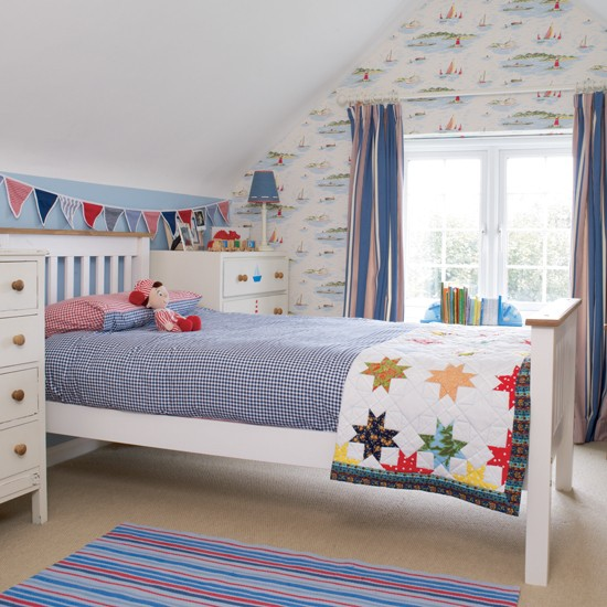 Colourful boy's bedroom
