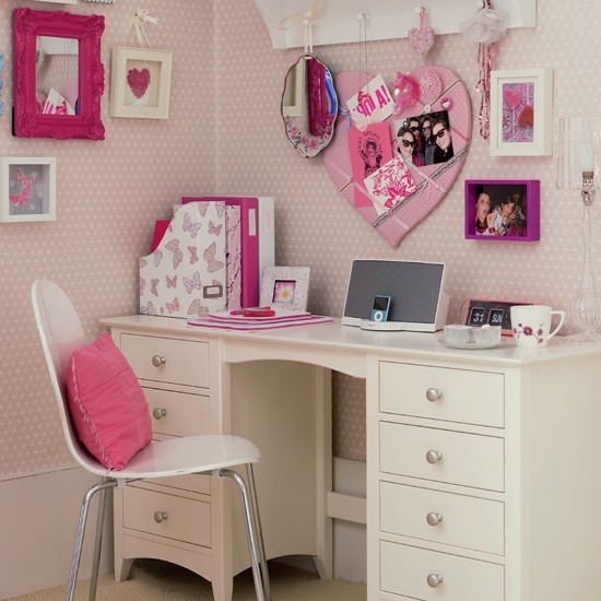 Dedicated study area | Girl's bedrooms | Bedroom ideas | Image | Housetohome