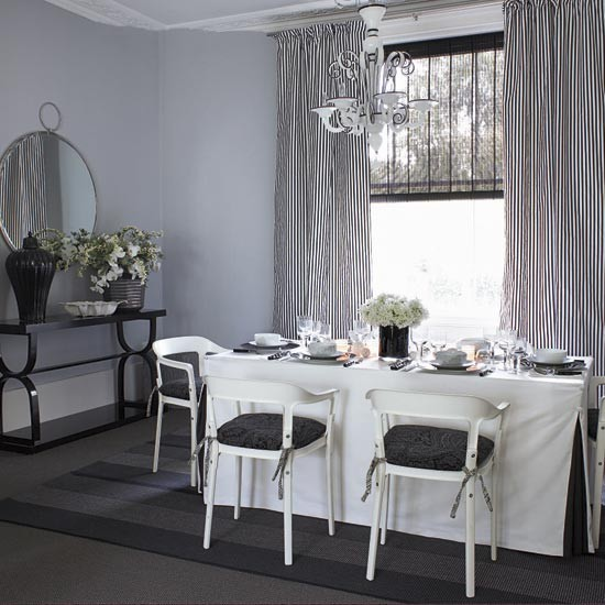 Charcoal and white dinning room | Dining room | Dining room ideas | Image | Housetohome