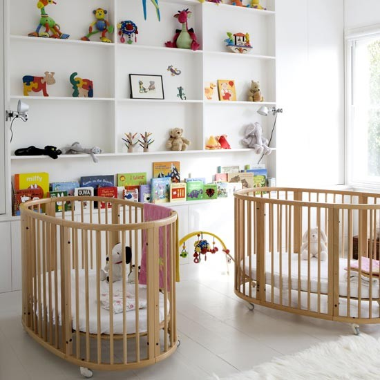 Twin nursery children 39 s room nursery ideas image for Baby room decorating ideas uk