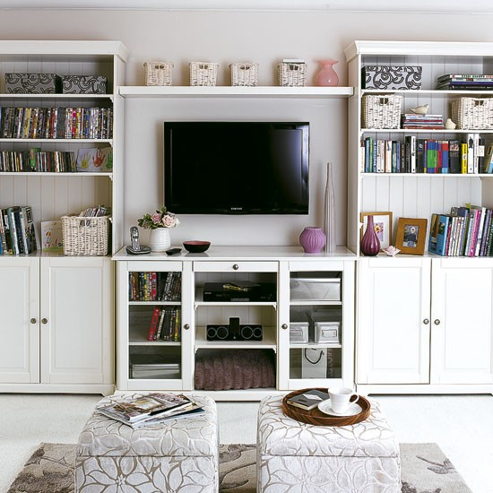 Small space living living room ideas for Storage solutions living room