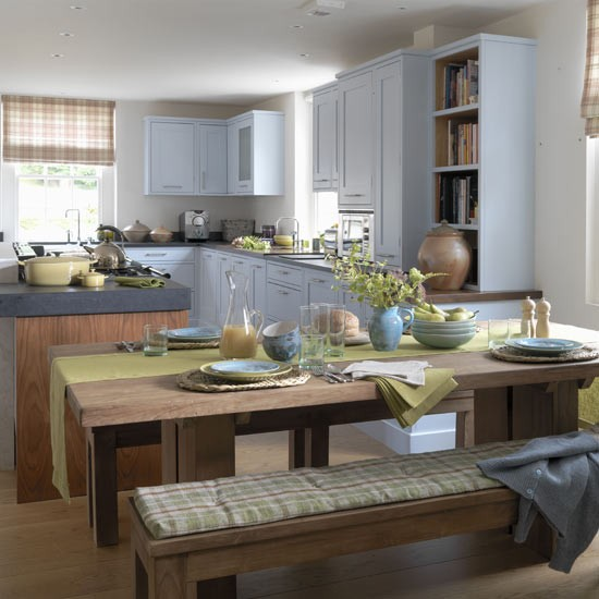 Blue modern country kitchen - housetohome