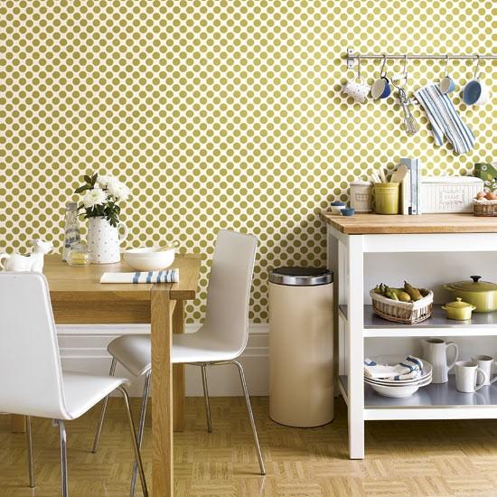 Stylish Modern Wallpaper Kitchen Design.