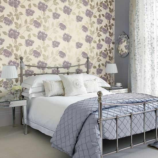 Bedroom with large patterned wallpaper | Traditional bedroom design ideas | Bedroom | PHOTO GALLERY | Housetohome.co.uk
