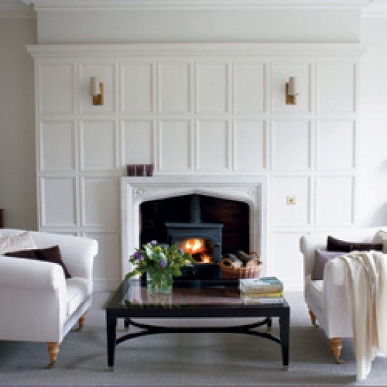 White panelled living room | Image | Housetohome.co.uk