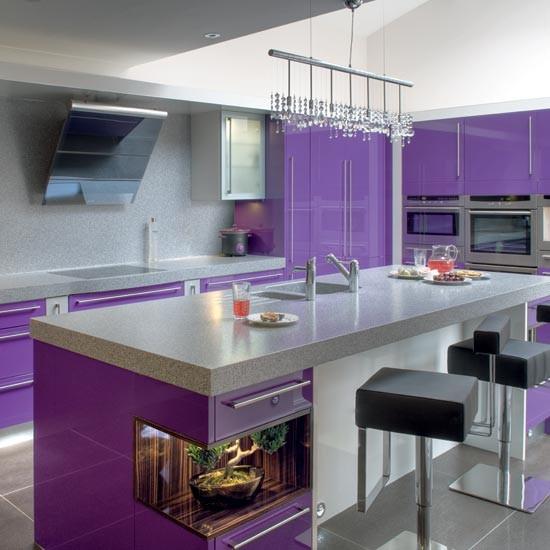 Purple Gloss Kitchen Units Weird And Wonderful Kitchens