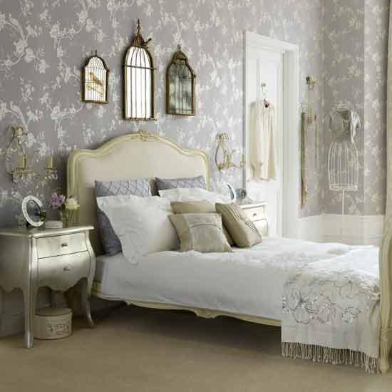 Vintage glamour bedroom bedroom ideas wallpaper for B q bedroom wallpaper