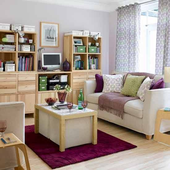 Space-saving living room | Ideal Home | Image | Housetohome.co.uk