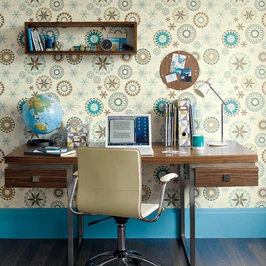 Retro walls home office | Home offices | Home office ideas | Image | Housetohome