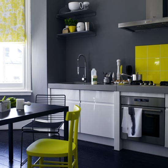 Charcoal grey kitchen  Kitchen colour schemes  Kitchen decorating