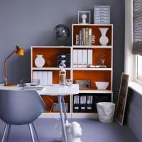 Striking home office storage