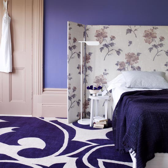 Rich purple bedroom | Bold bedroom designs | Image | housetohome