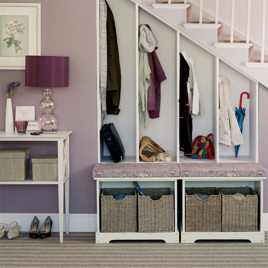 Be inspired by clever storage ideas for your cloakroom