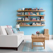 Stylist's tip: line your shelves up for a formal finish, or stagger them for a modern look