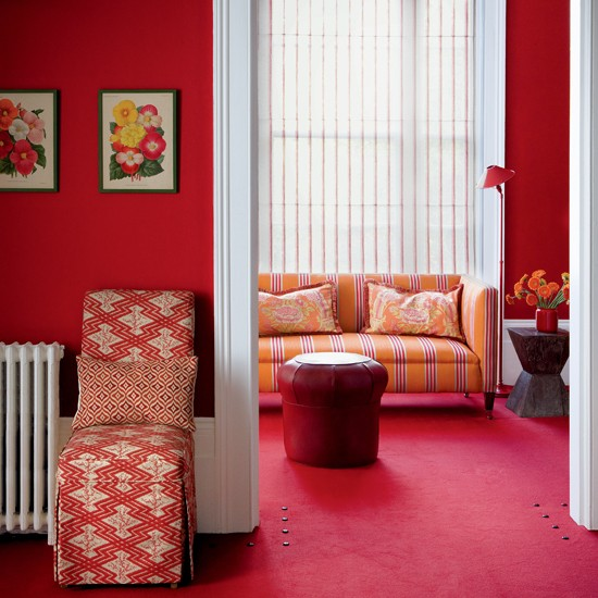 Rich red living room | Living rooms | Living room ideas | Image | Housetohome