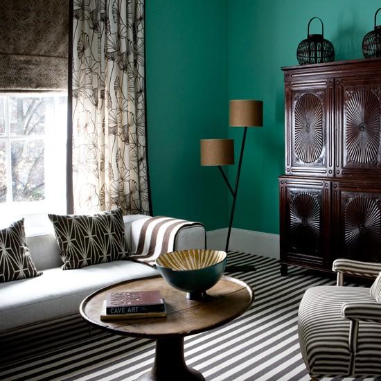 Chic stripes living room | Living rooms | Living room ideas | Image | Housetohome