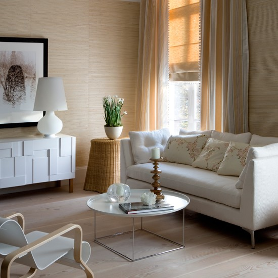 Casual cream living room living rooms living room for Cream living room designs