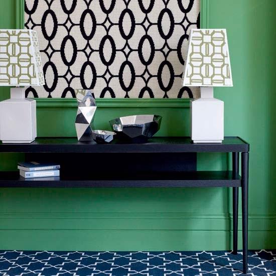 Green geometric hallway | Hallway furniture | Decorating ideas | Image | Housetohome