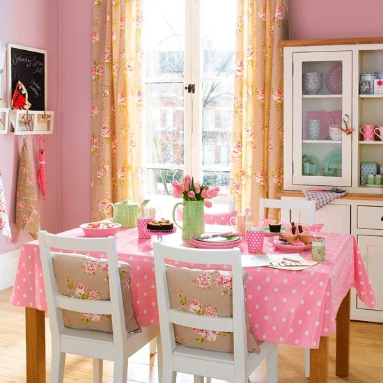 Farmhouse roses dining room | Dining rooms | Dining room ideas | Image | Housetohome