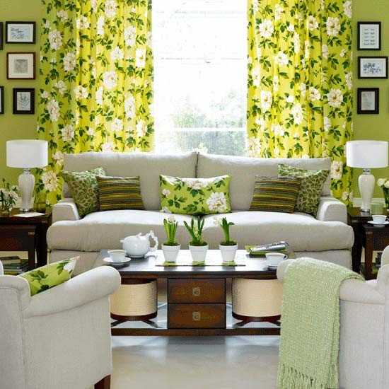 Country florals living room   Living rooms   Living room ideas   Image   Housetohome