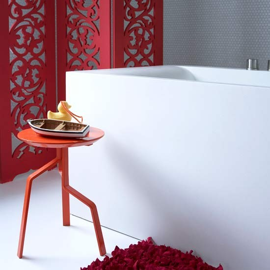 Bright red bathroom | Bathrooms | Bathroom ideas | Image | Housetohome