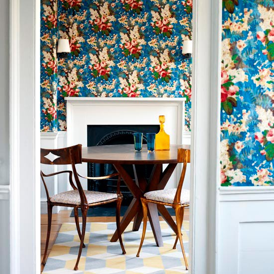 Dramatic wallpaper dining room | Dining rooms | Decorating ideas | Image | Housetohome