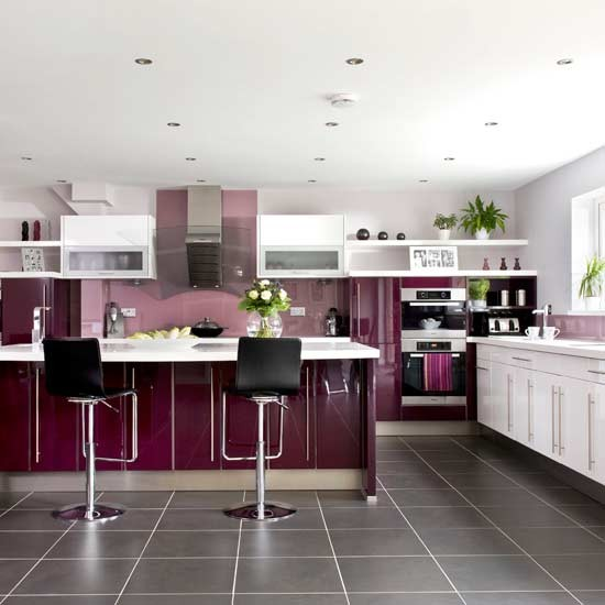 Berry kitchen kitchens decorating ideas image for Aubergine kitchen cabinets