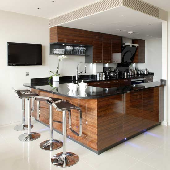 Chic Corner Kitchen Kitchens Decorating Ideas Image