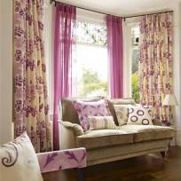 Francesca fabirc, £15 per m; Padua sheer fabric, £12 per m; both Globaltex