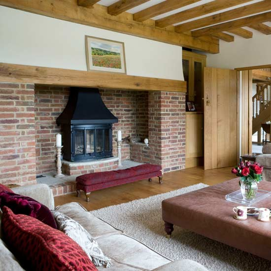 Rustic fireplace living room | Living rooms | Decorating ideas | Image | Housetohome