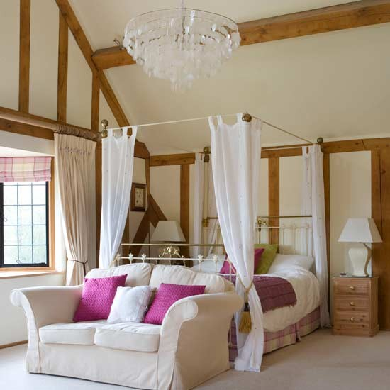 Romantic Bedroom Country Bedroom Ideas Four Poster Bed