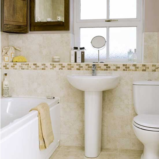 Neutral bathroom | Bathroom idea | Shelf | Image | Housetohome.co.uk