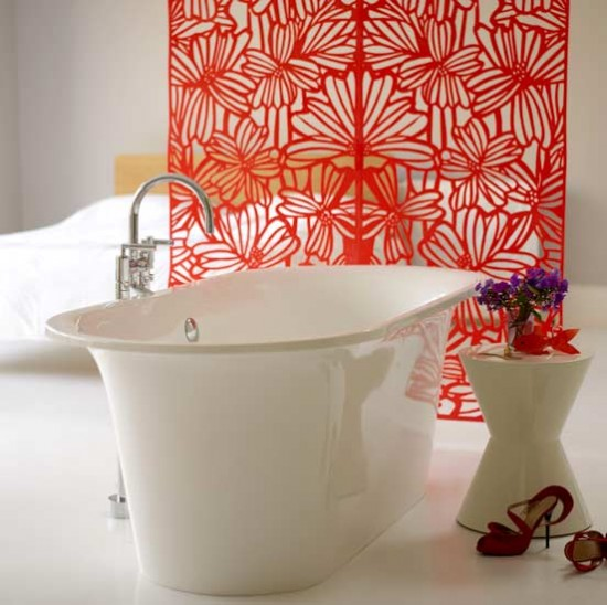 Floral screen bathroom | Bathrooms | Decorating ideas | Image | Housetohome