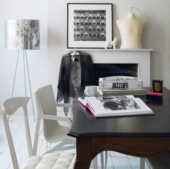 Modern white home office | Home office | Decorating ideas | Image | Housetohome