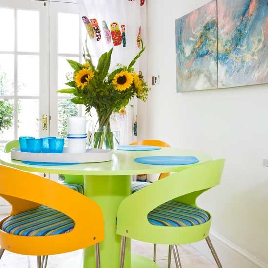 Lemon and lime dining room | Dining rooms | Image | Housetohome