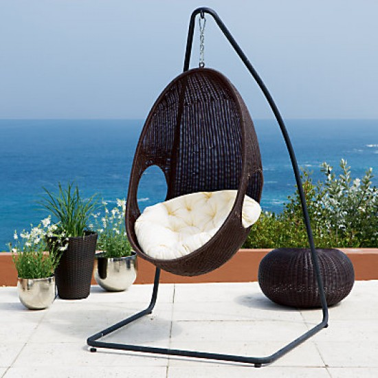 Rattan Pod Hanging Garden Chair From John Lewis