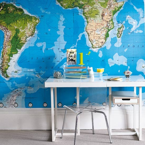 Children's map study area | Children's rooms | Image | Housetohome